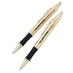 View a larger, more detailed picture of the Monte Cristo Metal Pen & Pencil Set - Gold