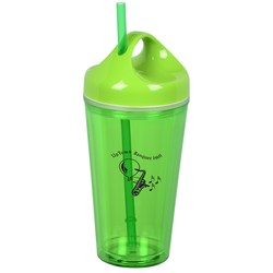 View a larger, more detailed picture of the Loop Acrylic Tumbler w Straw - 16 oz