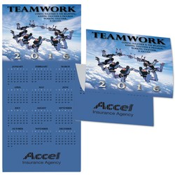 View a larger, more detailed picture of the Teamwork Calendar Greeting Card