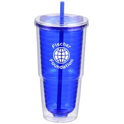 View a larger, more detailed picture of the Sip N Straw Tumbler - 24 oz