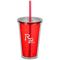View a larger, more detailed picture of the Sip N Straw Tumbler - 16 oz