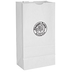 View a larger, more detailed picture of the Paper Lunch Sack - White