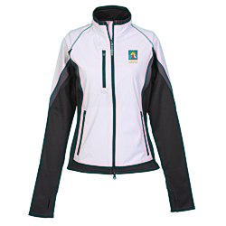 View a larger, more detailed picture of the Jozani Hybrid Soft Shell Jacket - Ladies
