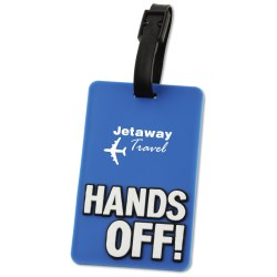 View a larger, more detailed picture of the Hands Off Luggage Tag - Closeout