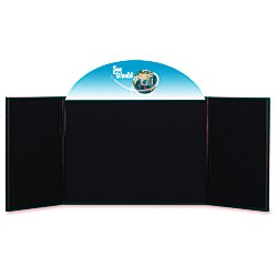 View a larger, more detailed picture of the Briefcase Tabletop Display w Curved Header - 24 x 64