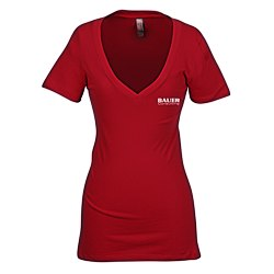 View a larger, more detailed picture of the Next Level 3 7 oz Deep V Tee - Ladies