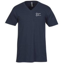 View a larger, more detailed picture of the Next Level Fitted 4 3 oz V Neck T-Shirt - Men s