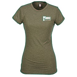 View a larger, more detailed picture of the Next Level Poly Cotton Tee - Ladies