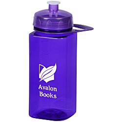 View a larger, more detailed picture of the PolySure Squared-Up Sport Bottle w Handle-24 oz -Translucent