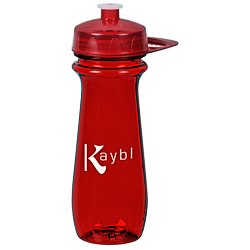 View a larger, more detailed picture of the PolySure Flared Sport Bottle w Handle - 16 oz - Translucent