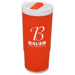 View a larger, more detailed picture of the Double Wall Plastic Tumbler - 20 oz - Closeout