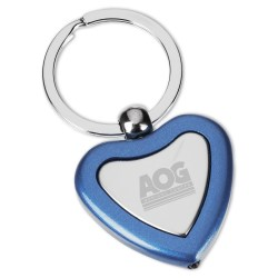 View a larger, more detailed picture of the Metal Lighted Key Tag - Heart - Closeout