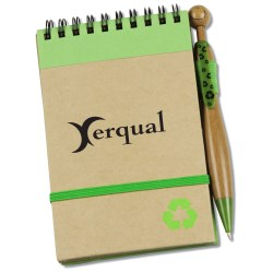 View a larger, more detailed picture of the Natural Jotter w Bamboo Swanky Pen - Closeout