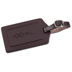 View a larger, more detailed picture of the Terra Leather Luggage Tag - Closeout
