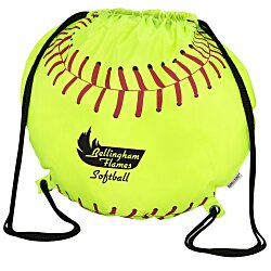 View a larger, more detailed picture of the Game Time Softball Drawstring Backpack