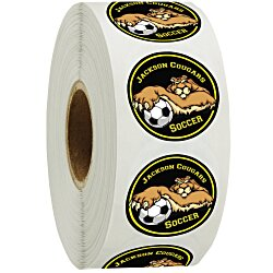 View a larger, more detailed picture of the Full Color Sticker by the Roll - Circle - 1