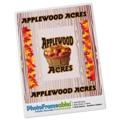 View a larger, more detailed picture of the Removable Picture Frame Decal - 2 x 3 - Woodgrain