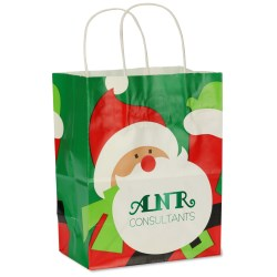 View a larger, more detailed picture of the Holiday Gift Bag - Santa