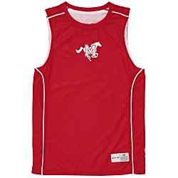 View a larger, more detailed picture of the Smooth Mesh Reversible Sleeveless Tee
