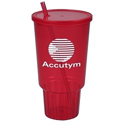 View a larger, more detailed picture of the Car Cup w Lid & Straw - 32 oz - Jewel
