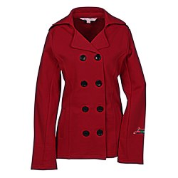 View a larger, more detailed picture of the Riley Fleece Pea Coat - Ladies 