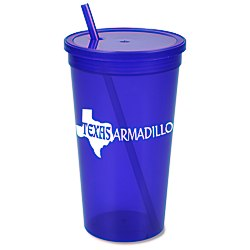View a larger, more detailed picture of the Stadium Cup w Lid & Straw - 32 oz - Jewel