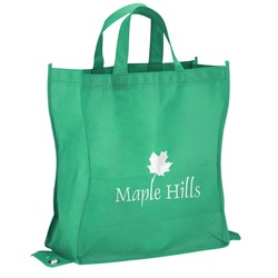 View a larger, more detailed picture of the Polypropylene Shop-N-Fold Tote - Closeout