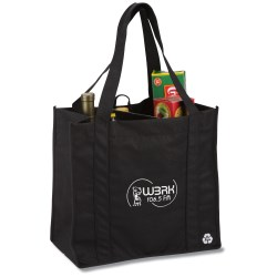View a larger, more detailed picture of the Recycled PET Grocery Tote - Closeout