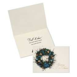View a larger, more detailed picture of the Ribbon & Wreath Greeting Card