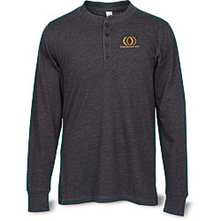 View a larger, more detailed picture of the Canvas Long Sleeve Henley