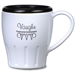 View a larger, more detailed picture of the Fluted Mug w Lid - 14 oz - Opaque