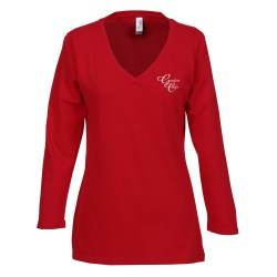 View a larger, more detailed picture of the Bella Missy Fit 3 4 Sleeve V-Neck T-Shirt