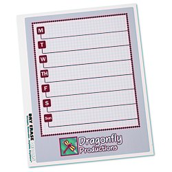 View a larger, more detailed picture of the Removable Memo Board Sticker - Weekly - Executive