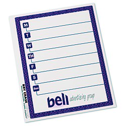 View a larger, more detailed picture of the Removable Memo Board Sticker - Weekly - Trellis
