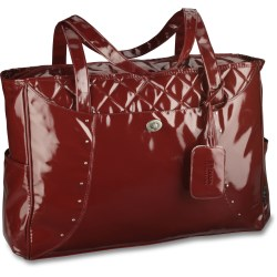 View a larger, more detailed picture of the Nicole Quilted Checkpoint-Friendly Laptop Tote