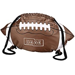 View a larger, more detailed picture of the Game Time Football Drawstring Backpack - 24 hr