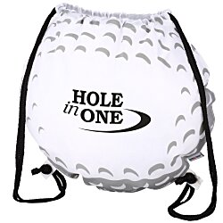 View a larger, more detailed picture of the Game Time Golf Ball Drawstring Backpack - 24 hr