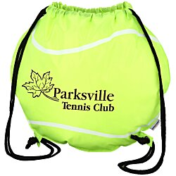 View a larger, more detailed picture of the Game Time Tennis Ball Drawstring Backpack - 24 hr