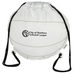 View a larger, more detailed picture of the Game Time Volleyball Drawstring Backpack - 24 hr