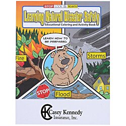 View a larger, more detailed picture of the Learning Natural Disaster Safety Coloring Book
