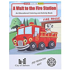 View a larger, more detailed picture of the A Visit to the Fire Station Coloring Book