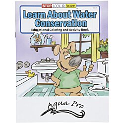 View a larger, more detailed picture of the Learn About Water Conservation Coloring Book