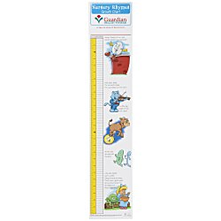 View a larger, more detailed picture of the Nursery Rhymes Growth Chart