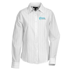 View a larger, more detailed picture of the Taberg EZ-Care Yarn Dyed Stripe Shirt - Ladies