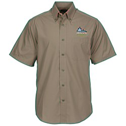 View a larger, more detailed picture of the Preston EZ Care Short Sleeve Shirt - Men s