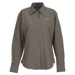 View a larger, more detailed picture of the Parsons Mini Houndstooth EZ-Care Shirt - Ladies