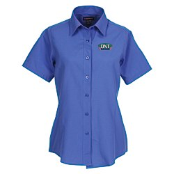 View a larger, more detailed picture of the Tulare EZ-Care SS Oxford Shirt - Ladies