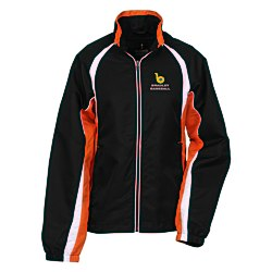View a larger, more detailed picture of the Kelton Color Block Track Jacket - Ladies
