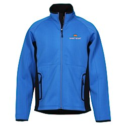 View a larger, more detailed picture of the Ferno Color Block Soft Shell Jacket - Men s