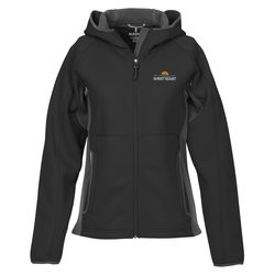 View a larger, more detailed picture of the Ferno Color Block Soft Shell Hooded Jacket - Ladies